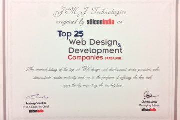 Silicon India recognized JMJ Technologies as among the top 25 web design and development companies in Bangalore